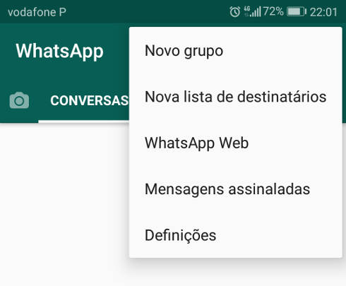 novo grupo do whatsapp