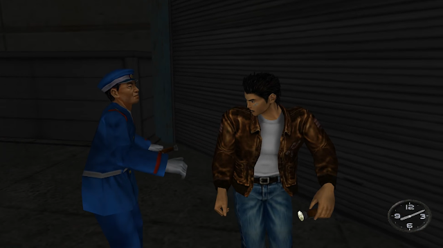 Ryo is caught by a security guard