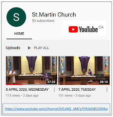 St. Martin Of Tours YouTube Channel