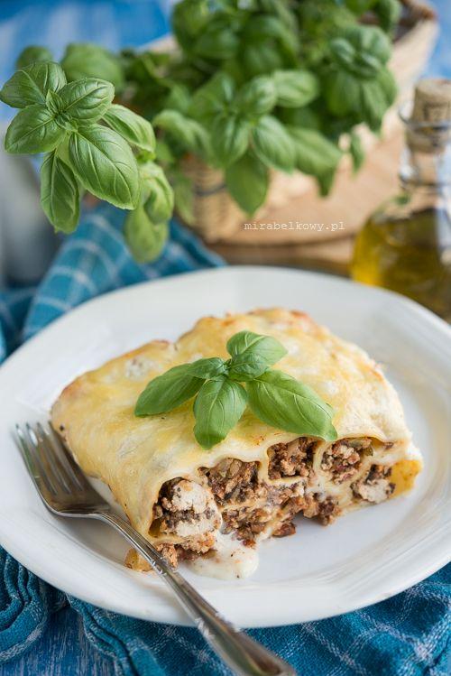 Mirabelkowy Blog Cannelloni Z Kurczakiem Pieczarkami I Cukinia