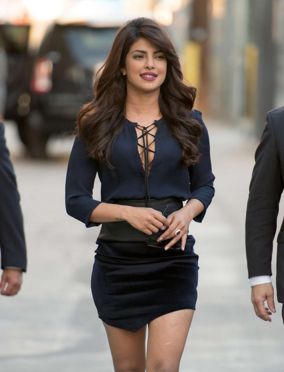 Priyanka Chopra Latest Stills in Blue Dress