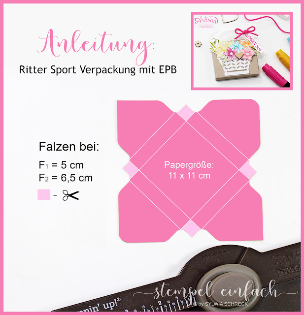 Anleitung Verpackung Stampin Up Ritter Sport