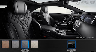 Nội thất Mercedes S500 4MATIC Coupe 2018 màu Đen Leather 961