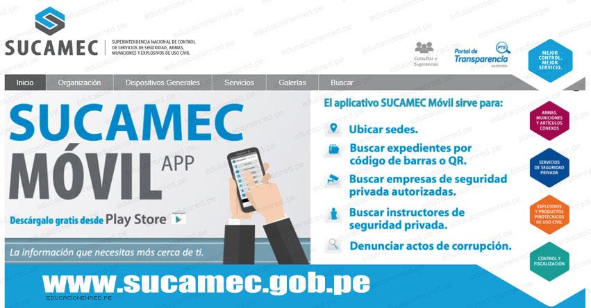 SUCAMEC lanza aplicativo móvil para denunciar fabricación y venta ilegal de pirotécnicos - www.sucamec.gob.pe