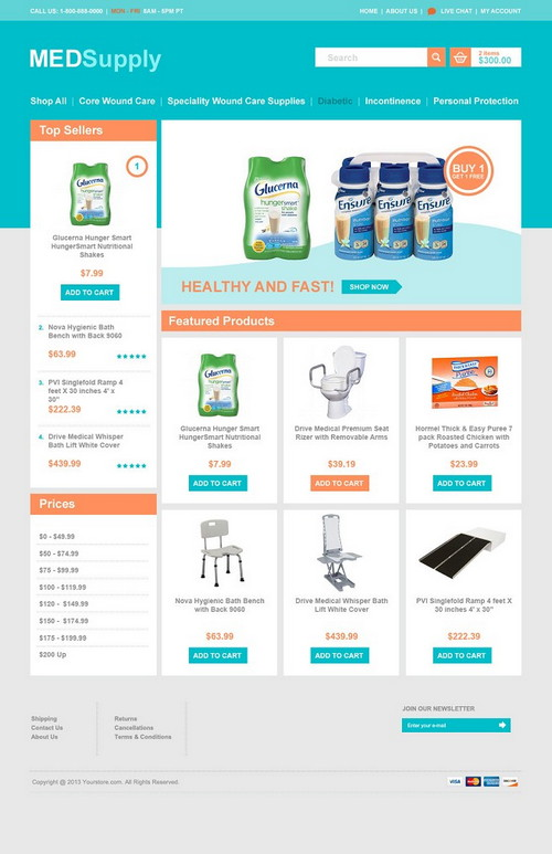 Med Supply Ecommerce Template