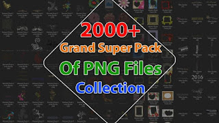 Super Pack Of PNG Files