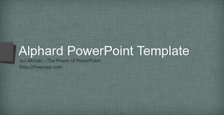 Template Powerpoint Keren Alphard by Jun Akizaki