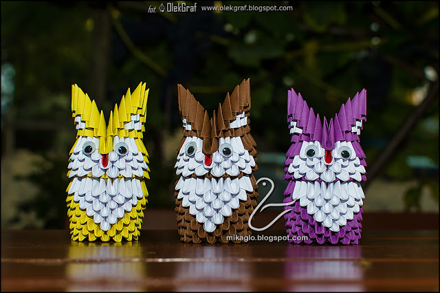 471. Sowy z origami 3d / 3d origami owls