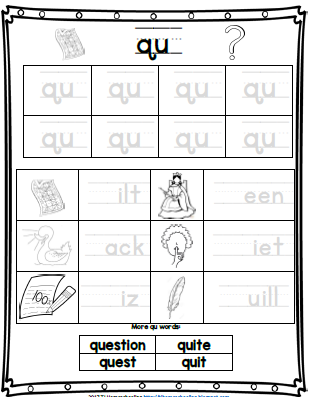 qu digraph worksheet