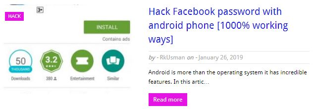 Hack facebook password on android phone | Facebook Hacking