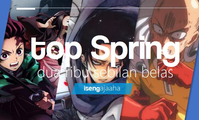 TOP 10 Anime Musim Spring Tahun 2019!