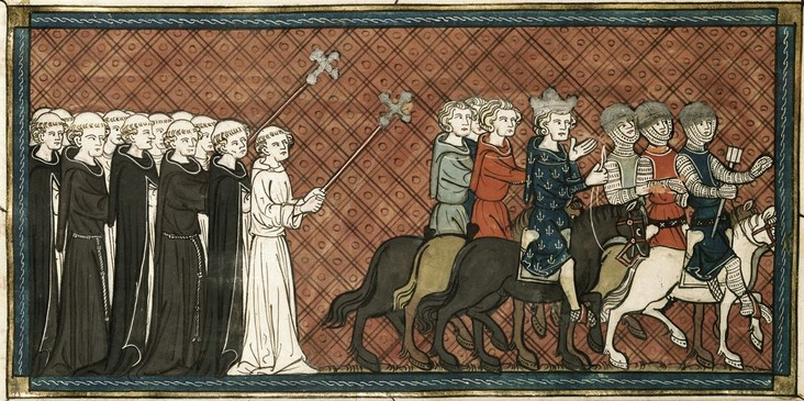 Perang Salib VII : Penebusan Raja Louis IX dan Kepulangan Friedrich II Ke Jerman  Lukisan Kepergian tentara Salib
