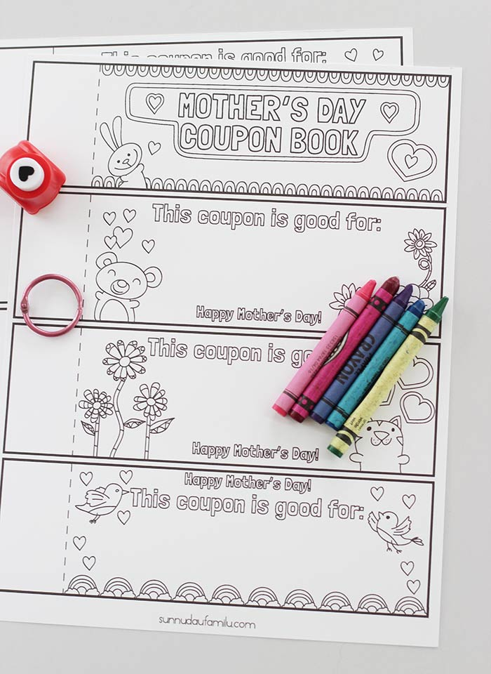 Free Printable Mothers Day Coupons For Kids To Color And Create Sunny Day Family