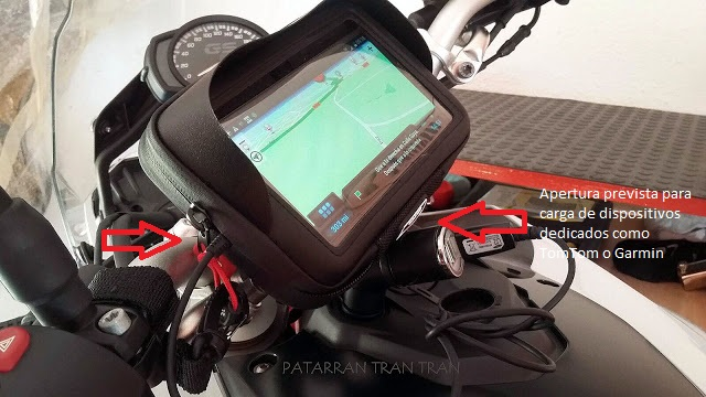 BMW f800GS. Trail Forever. Porta GPS Universal Givi s954b