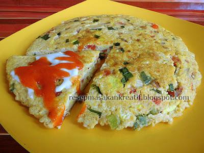 Resep Omelet Telur Dadar Tahu