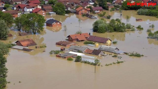 منافع و مخاطر الانهار ، فائدة الأنهار، الفيضان