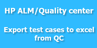 Export Test cases  to Quality Center