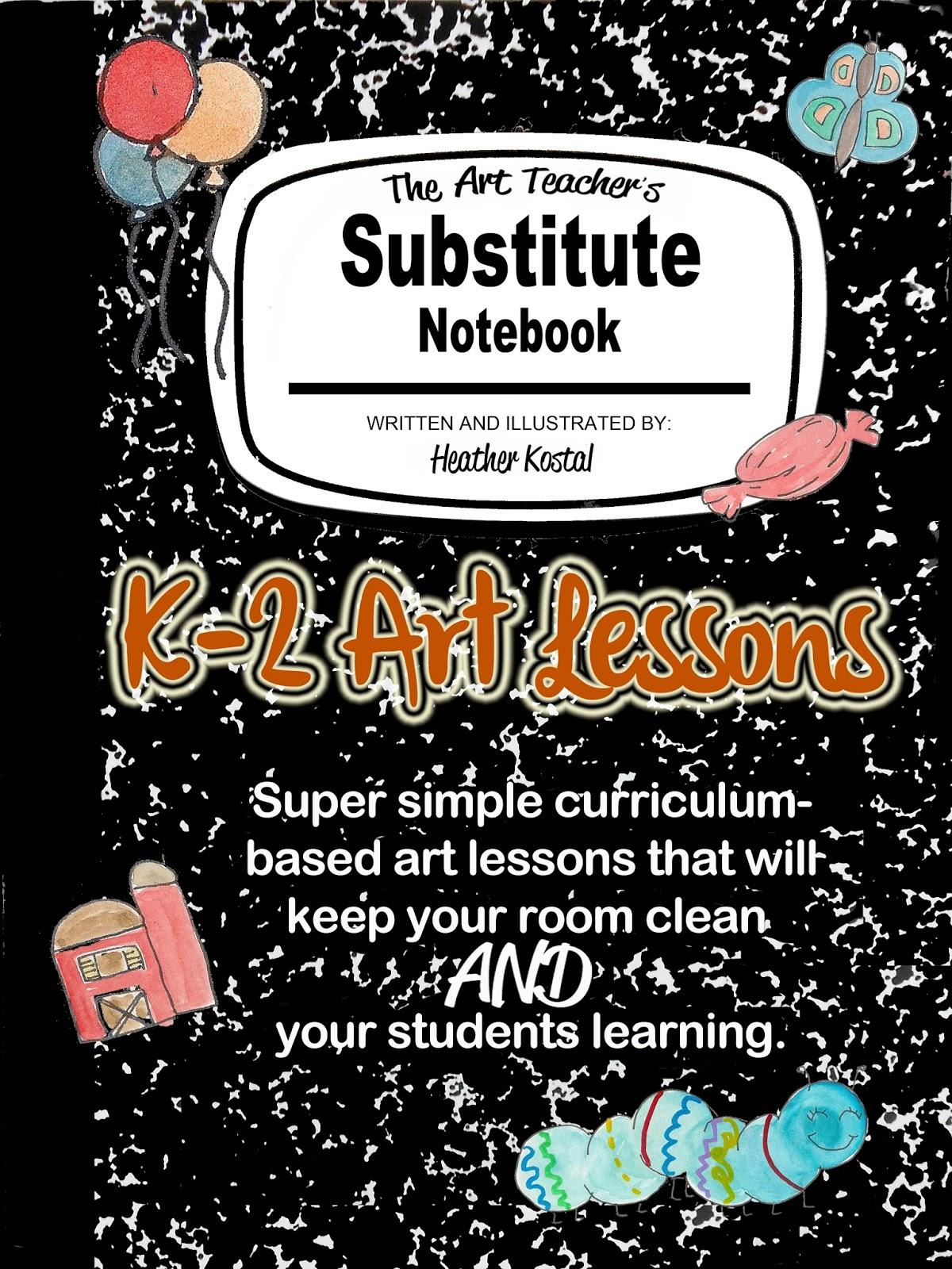 No Corner Suns The Art Teacher S Substitute Notebook K 2