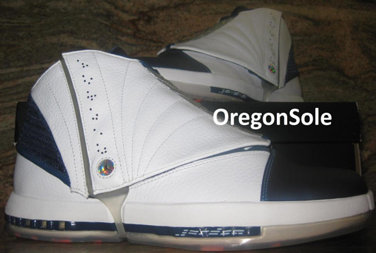 watch a4dda ee5ac Air Jordan 16 Retro White Midnight Navy Sample. Ever since Ray Allen ...