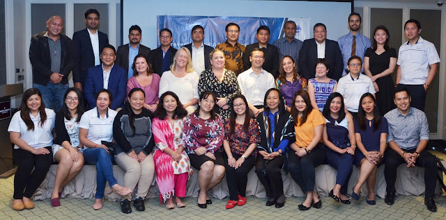 PHOTO CAPTION: Delegates for the course on the Prevention and Administration of Social and Environmental Conflicts in the Renewable Energy Sector during the closing ceremony graced by Counsellor and Deputy Head of Mission of the Royal Norwegian Embassy in Manila, Ms. Larissa Kosanovic (middle row, fourth from left), ICH Managing Director Line Amlund Hagen (middle row, third from left), and SNAP Group President and CEO Joseph S. Yu (middle row, fifth from left).