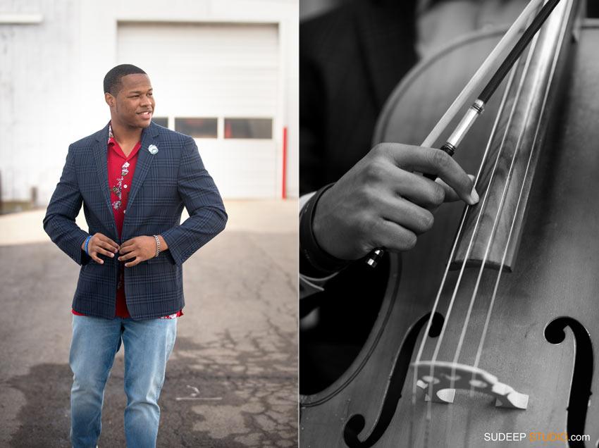 Music Theme Cello Pioneer High Ann Arbor Senior Pictures for Guys SudeepStudio.com Ann Arbor Senior Portrait Photographer