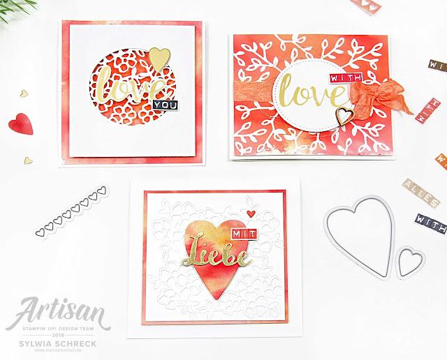 Herzkarten-Mit Liebe-Stampin up