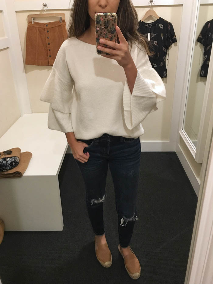 cream chunky sweater