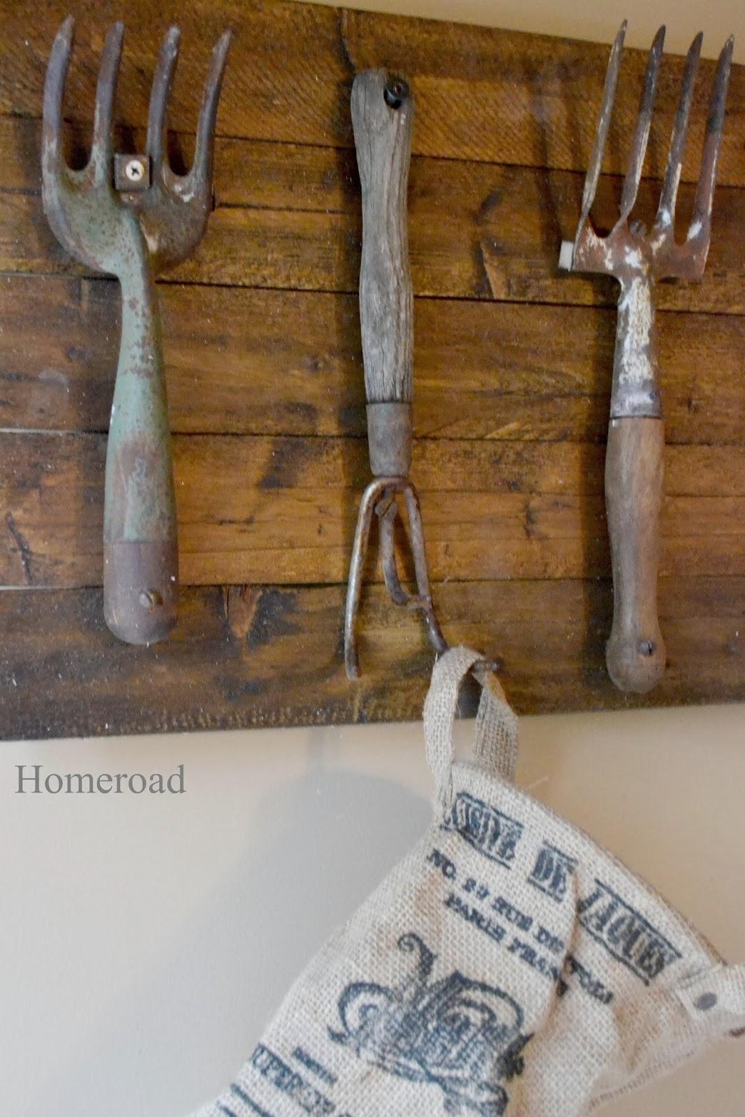 Vintage Garden Tool Hooks | Homeroad