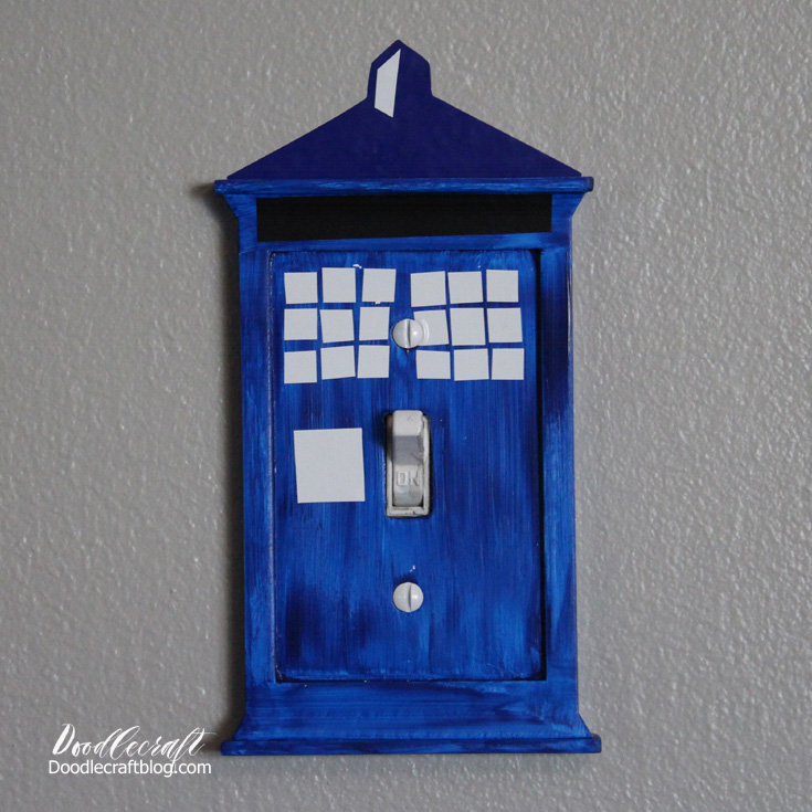 Doodlecraft tardis light switch cover for Tardis light switch cover
