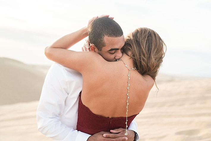 A Romantic Sand Dunes Engagement Session from Victoria Johansson Photography