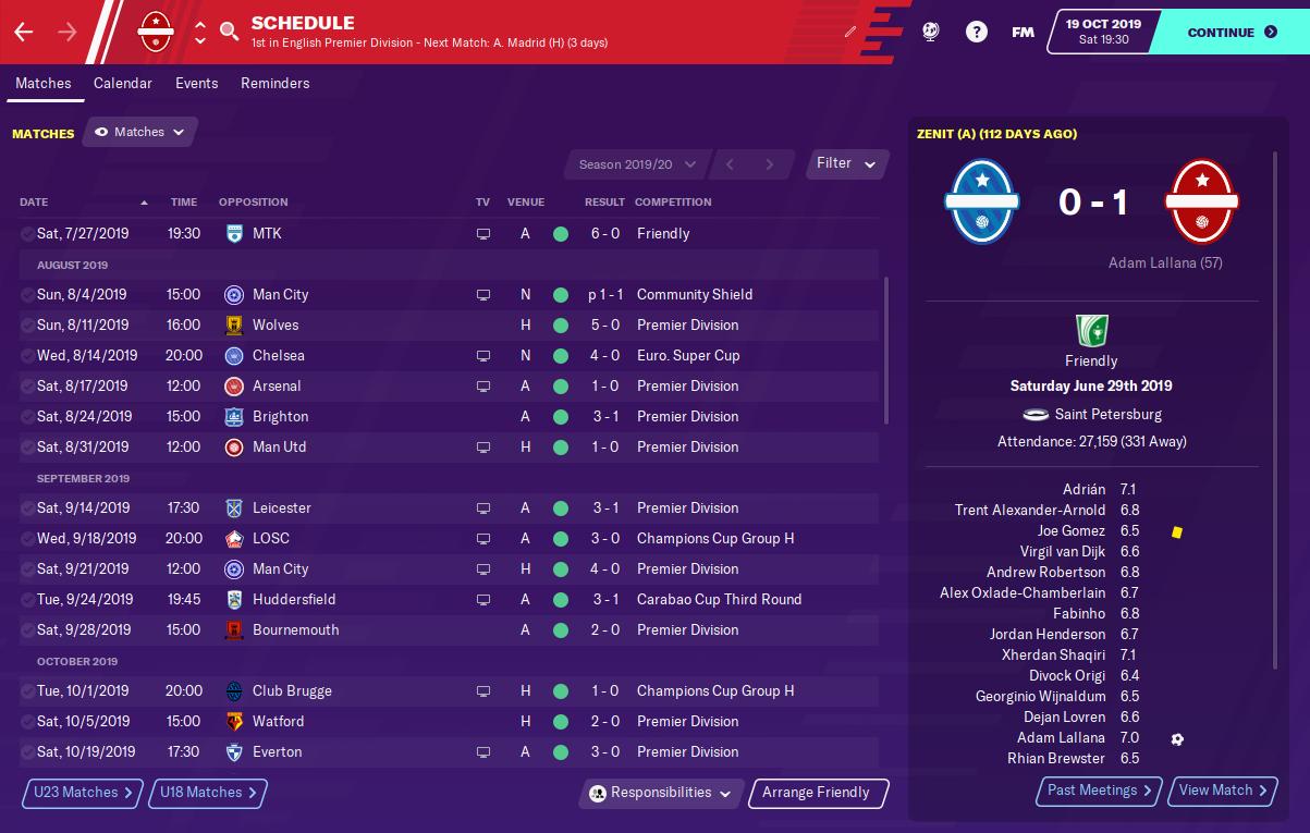 FM20 - Jurgen Klopp's 4-3-3 Liverpool Gegenpress Tactic Results