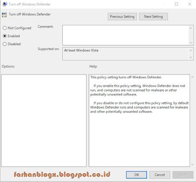 Cara Disable Windows Defender Dengan Mudah