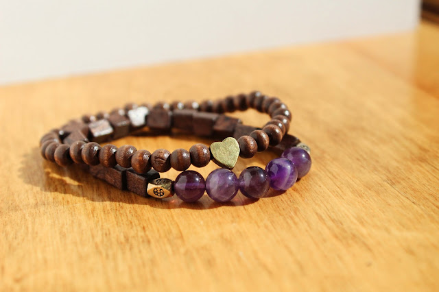 Amethyst Jewelry, Bronze Heart Bracelet, Gemstone Jewelry, Healing Crystals