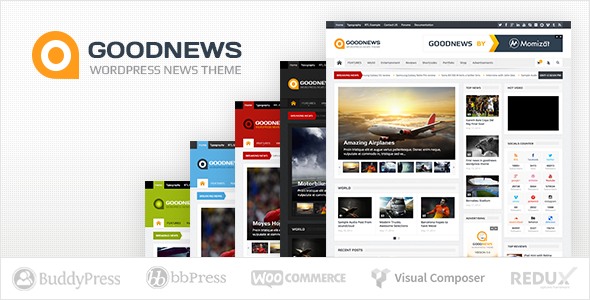 Free Download Goodnews V5.7.4 Responsive WordPress News/Magazine Theme