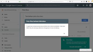 submit peta situs ke search console
