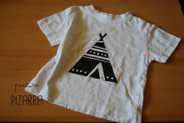 Camiseta pintura pizarra