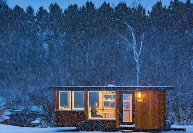 Decoraci n f cil una casa con ruedas en la nieve - Casas con ruedas ...
