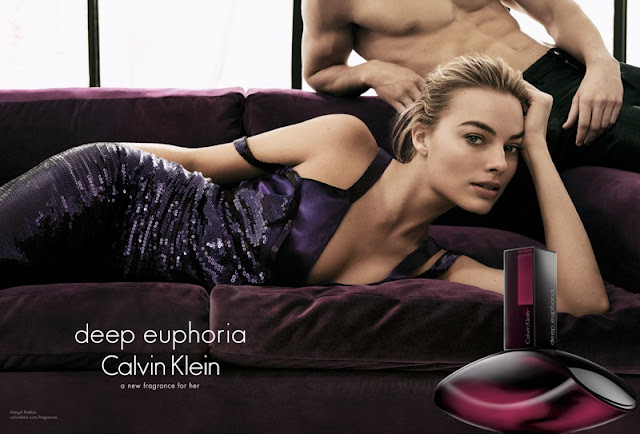 Margot Robbie stars for the Calvin Klein Deep Euphoria Fragrance Campaign