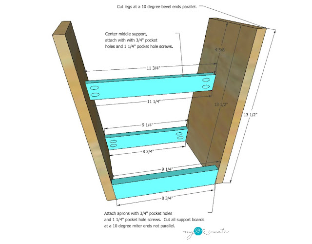 DIY Plans to build your own Reclaimed Wood Stool at MyLove2Create
