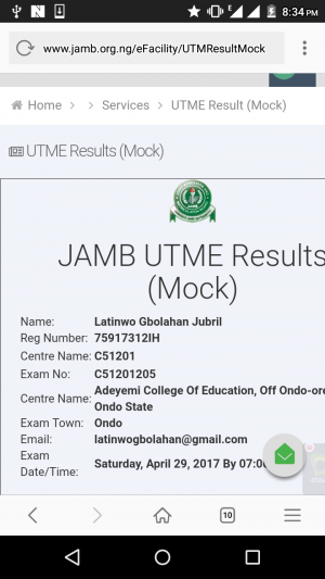 Check Your JAMB Mock 2017 Results -  It's Out