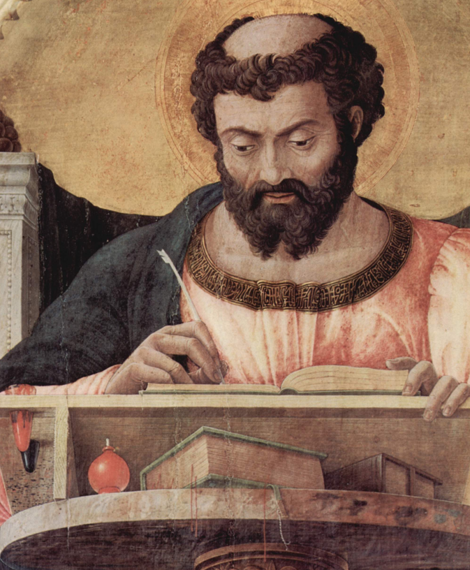 Luke the Evangelist (detail from the Saint Luke Alterpiece, Andrea Mantegna