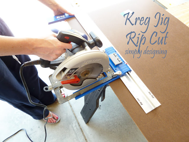 Kreg Jig Rip Cut   perfect to cut straight lines with a circular saw   #tools #kreg #diy