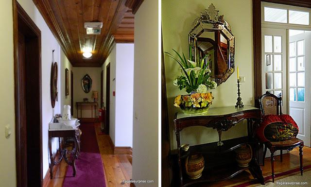 Interior do solar da hospedaria rural Casa São Faustino de Fridão, em Amarante