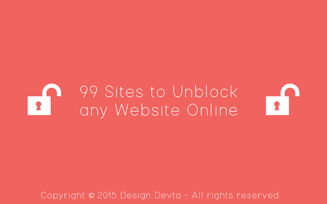 List of 99 Sites to Unblock any Website Online