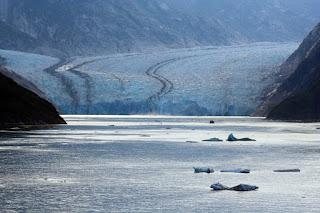 Alaska glacier in Endicott Arm, copyright Carl Dombek