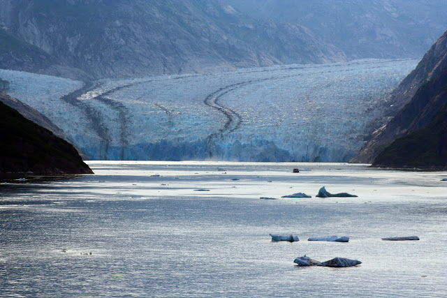 Alaska glacier in Endicott Arm, copyright Carl Dombek
