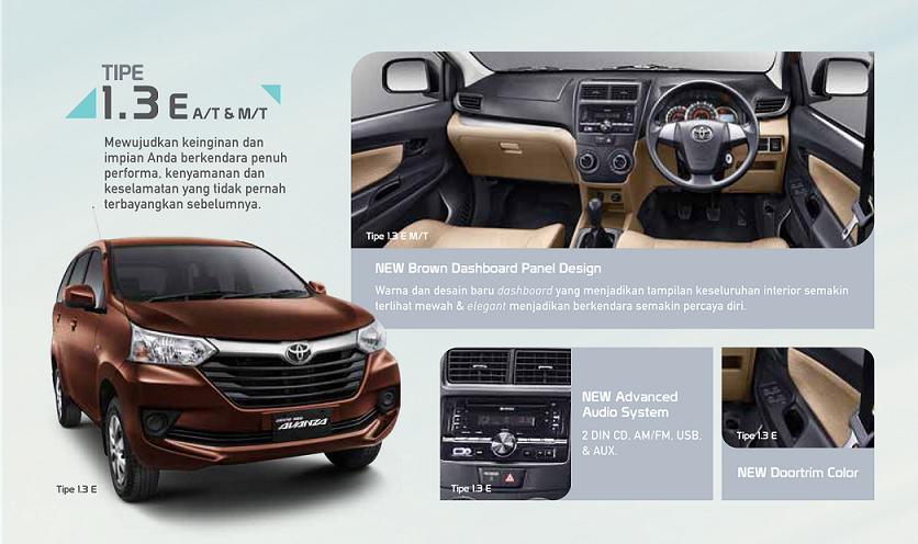 pilihan warna grand new avanza 2017 modifikasi 2016 perbedaan toyota e dan g astra indonesia interior gand hampir mirip dengan tipe menggunakan perpaduan coklat hitam perbedannya untuk pada bagian panel pintu samping