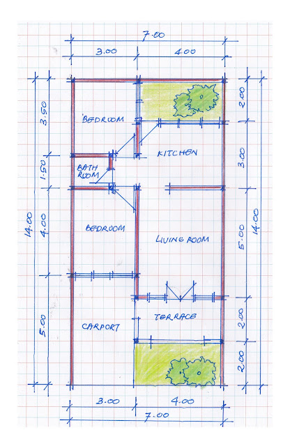 layout of house plan A-11b