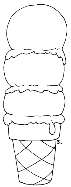 ice cream sandwich coloring pages - photo #35