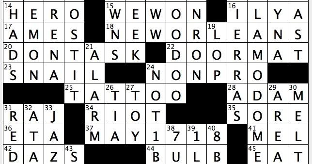 Rex Parker Does The Nyt Crossword Puzzle 1958 Physics Co Nobelist